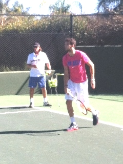 Dimitar Yazadzhiev working with Grigor Dimitrov