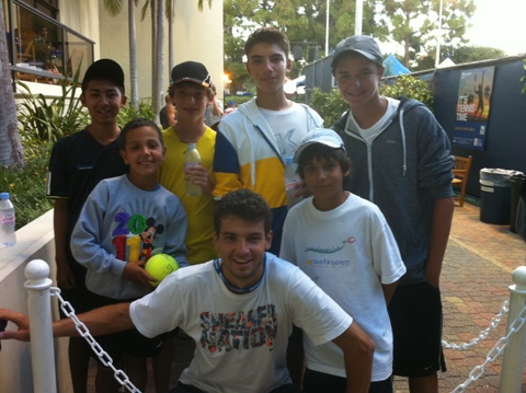 Dimitar Tennis Academy Tournament Travel Team with Grigor Dimitrov (BUL) at LA Open